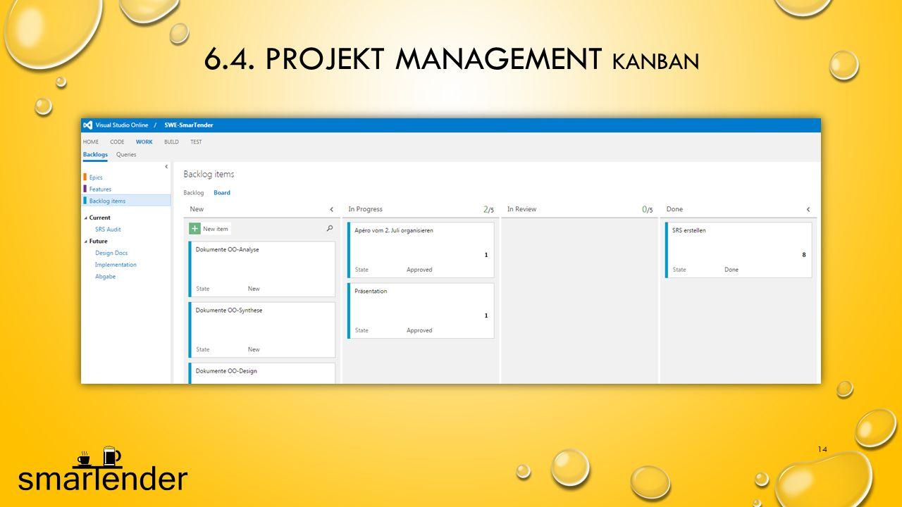 6.4. Projekt Management Kanban
