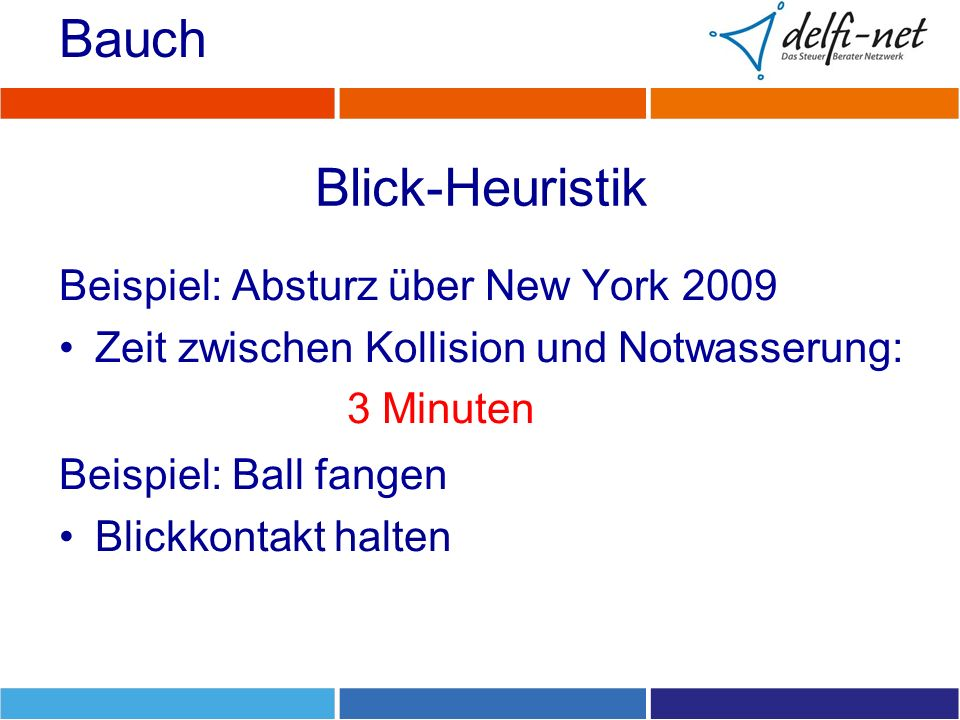Bauch Blick-Heuristik Beispiel: Absturz über New York 2009