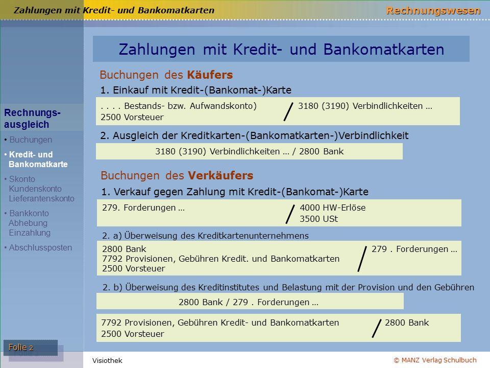 Zahlungen mit Kredit- und Bankomatkarten