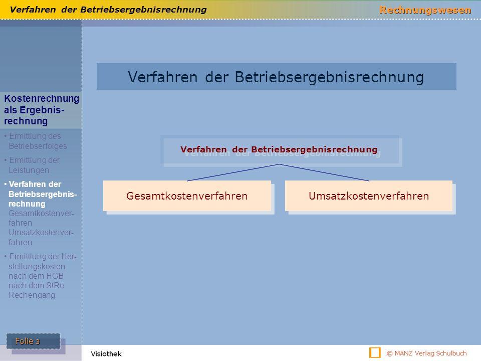 Verfahren der Betriebsergebnisrechnung