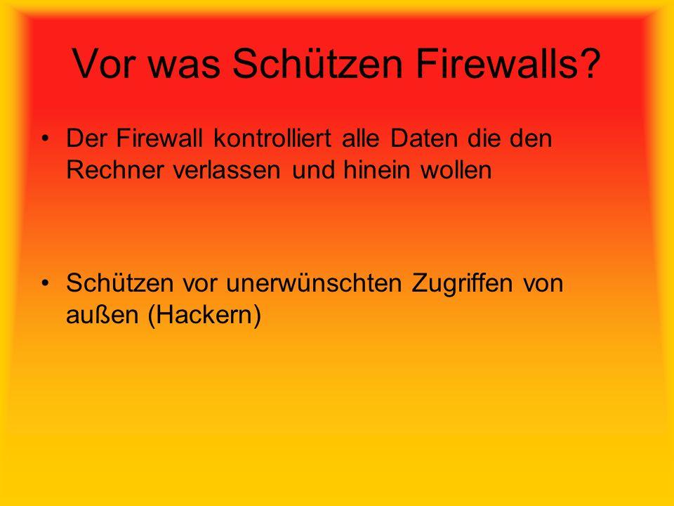 Vor was Schützen Firewalls