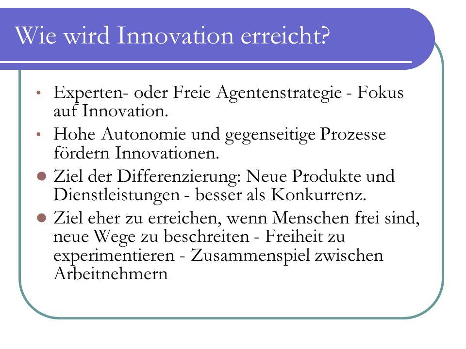 Wie wird Innovation erreicht