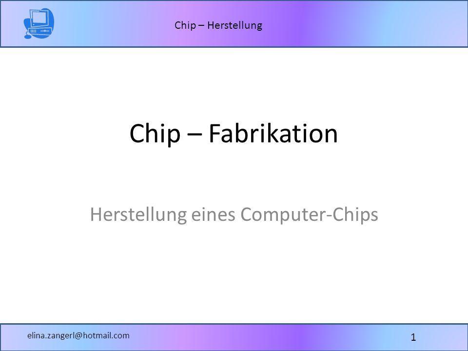 Herstellung eines Computer-Chips