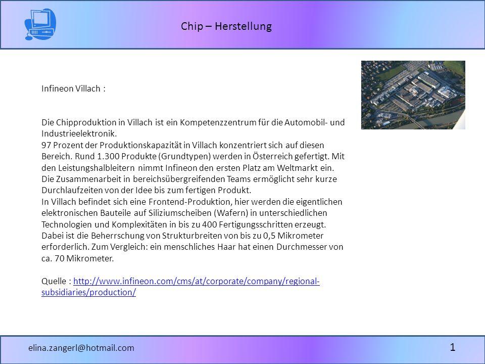 Infineon Villach : Die Chipproduktion in Villach ist ein Kompetenzzentrum für die Automobil- und Industrieelektronik.