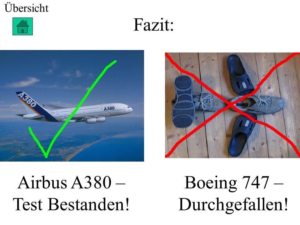 Airbus A380 – Test Bestanden! Boeing 747 – Durchgefallen!