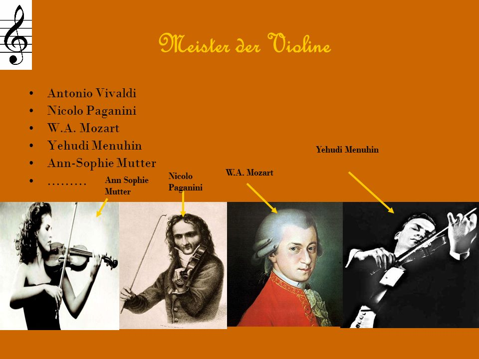 Meister der Violine Antonio Vivaldi Nicolo Paganini W.A. Mozart