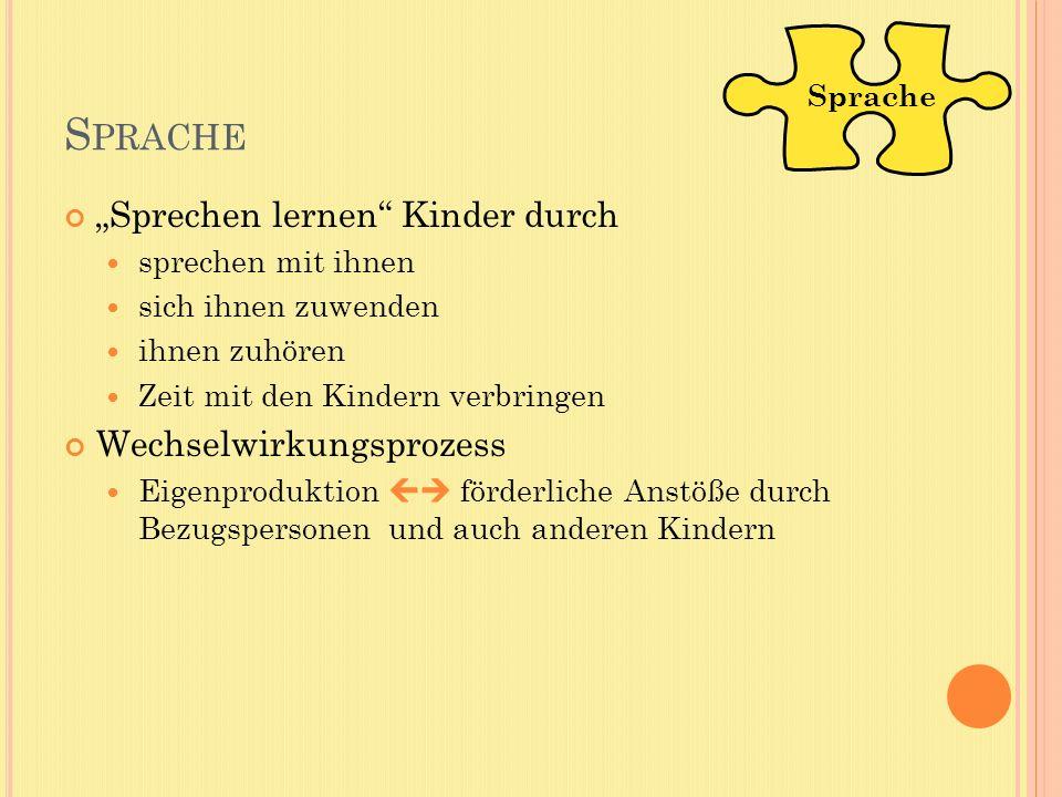 """Sprache """"Sprechen lernen Kinder durch Wechselwirkungsprozess"""