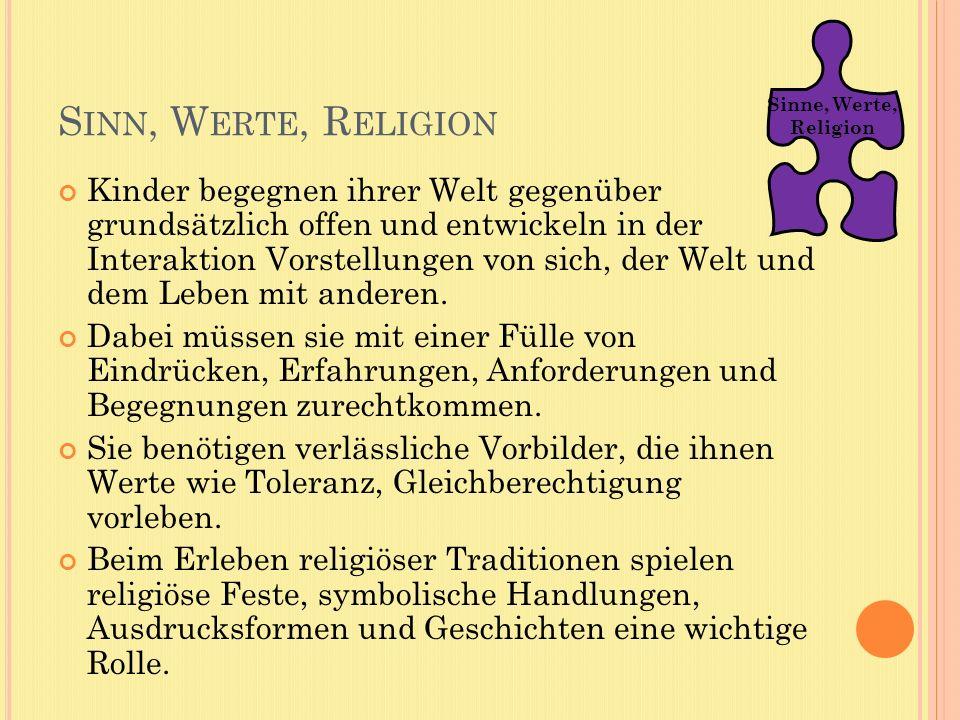 Sinne, Werte, Religion. Sinn, Werte, Religion.