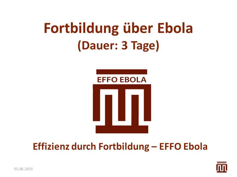 Effizienz durch Fortbildung – EFFO Ebola