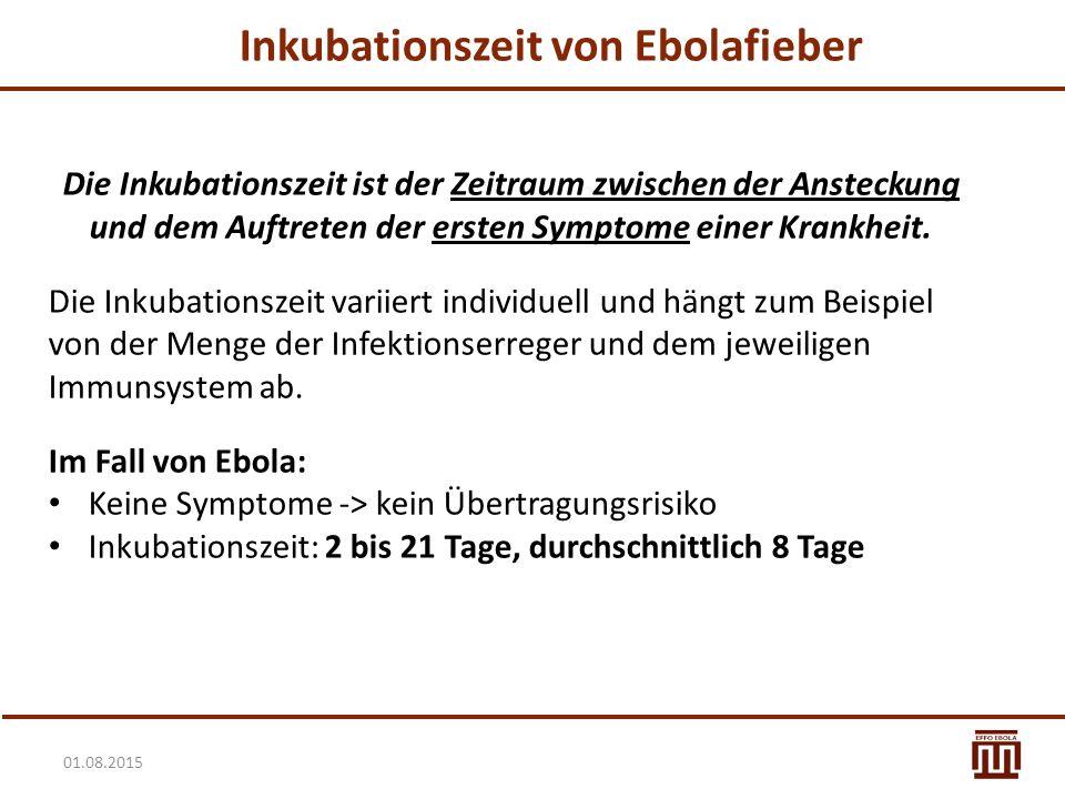 Inkubationszeit von Ebolafieber
