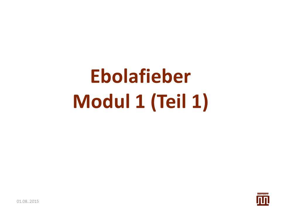 Ebolafieber Modul 1 (Teil 1)