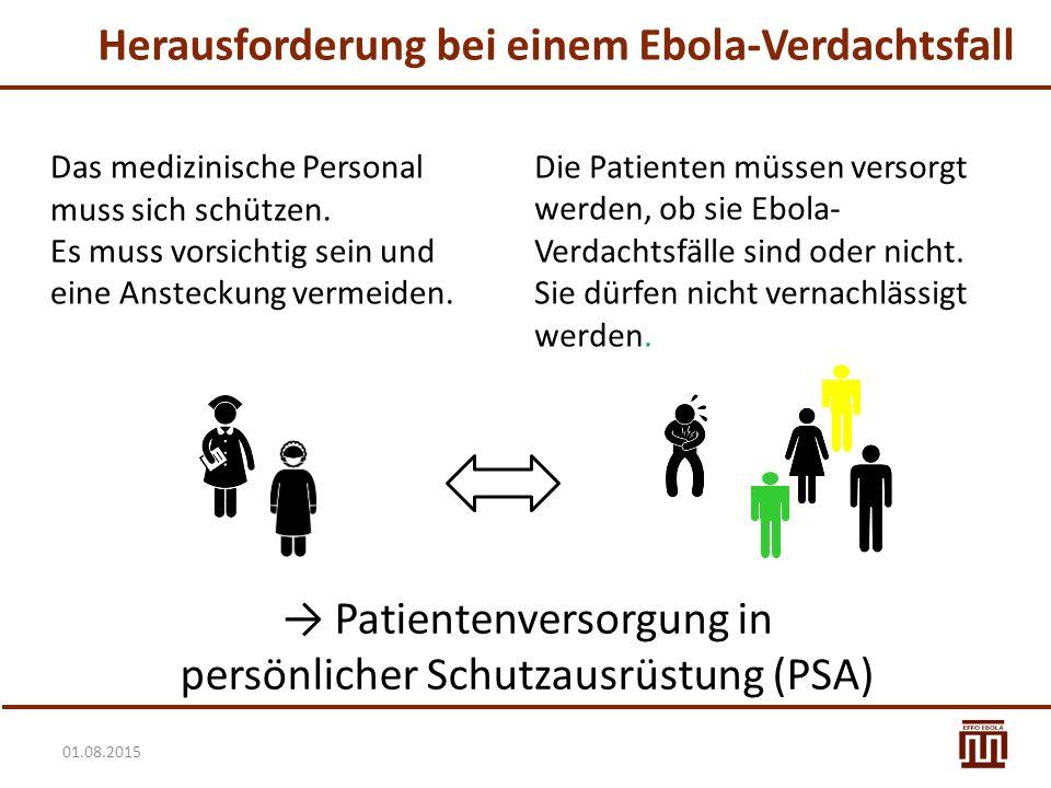 Herausforderung bei einem Ebola-Verdachtsfall