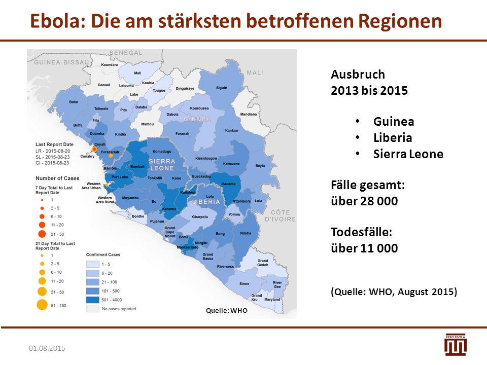 Ebola: Die am stärksten betroffenen Regionen