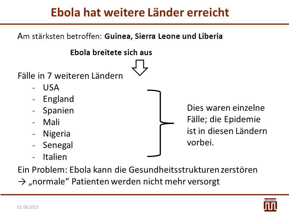 Ebola hat weitere Länder erreicht