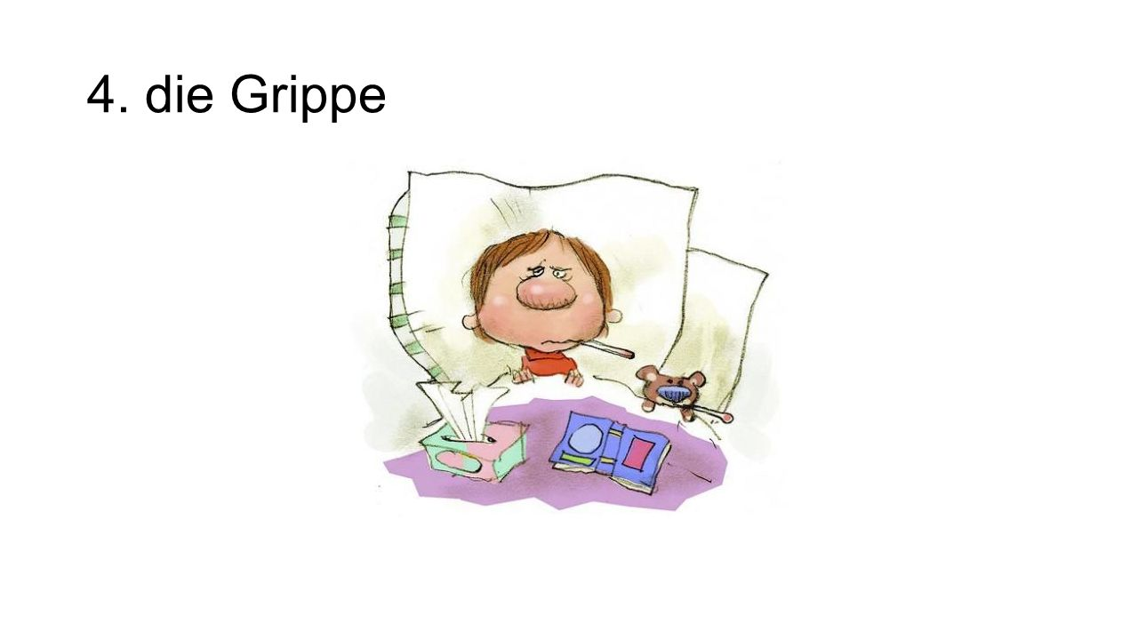 4. die Grippe The flu