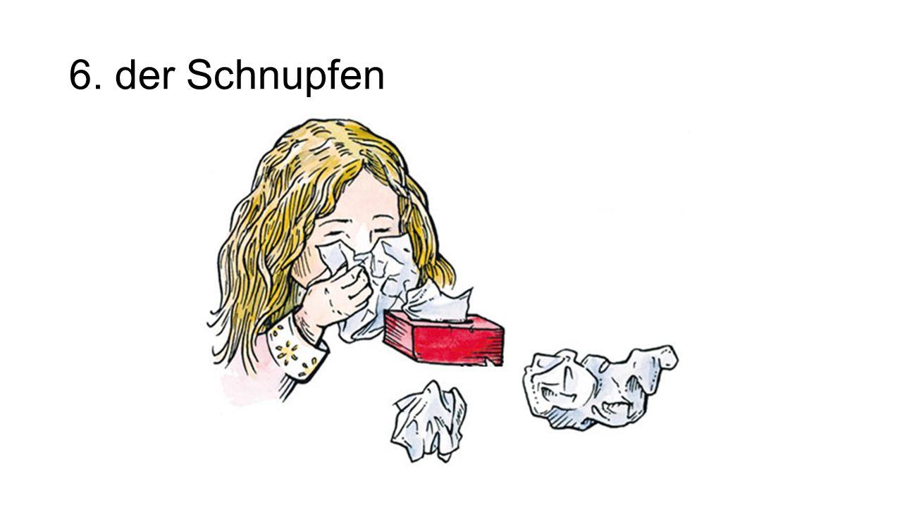 6. der Schnupfen The sniffles/stuffy/runny nose