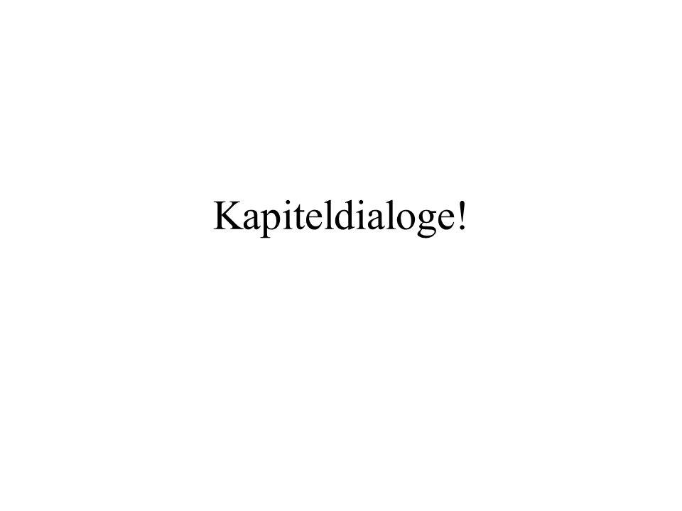 Kapiteldialoge!