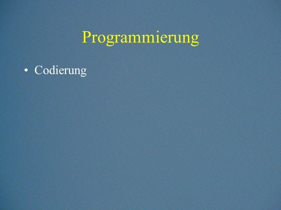 Programmierung Codierung