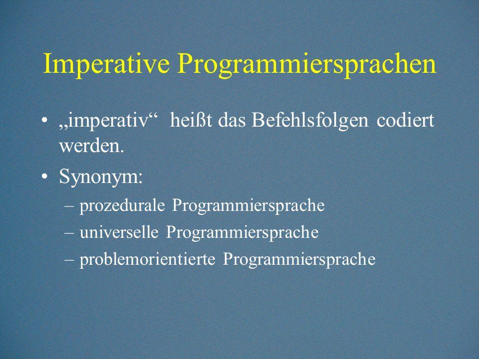Imperative Programmiersprachen