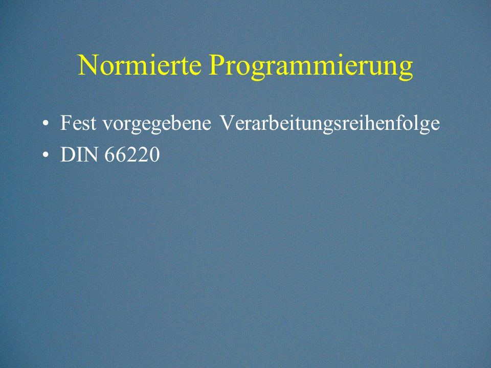 Normierte Programmierung