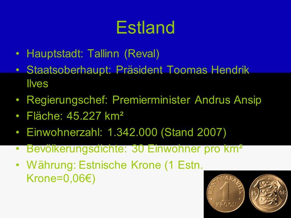 Estland Hauptstadt: Tallinn (Reval)