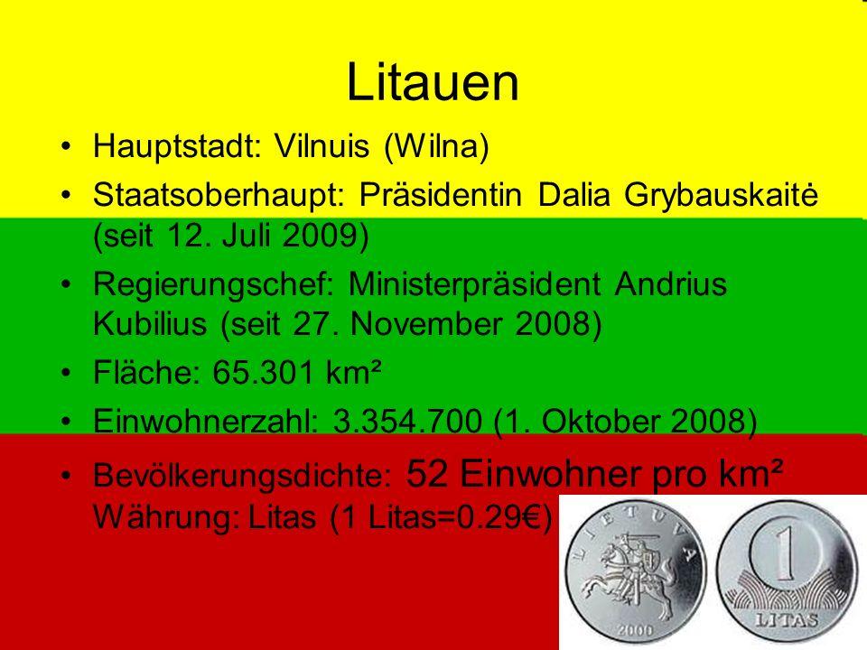 Litauen Hauptstadt: Vilnuis (Wilna)