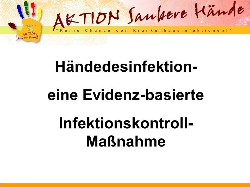 Händedesinfektion- eine Evidenz-basierte Infektionskontroll-Maßnahme