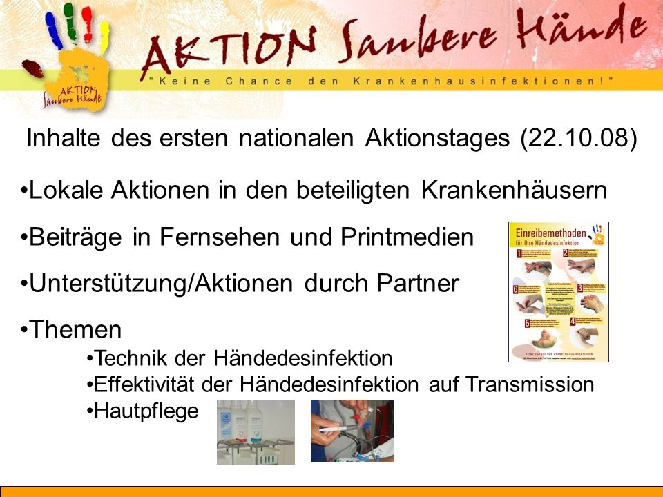 Inhalte des ersten nationalen Aktionstages (22.10.08)
