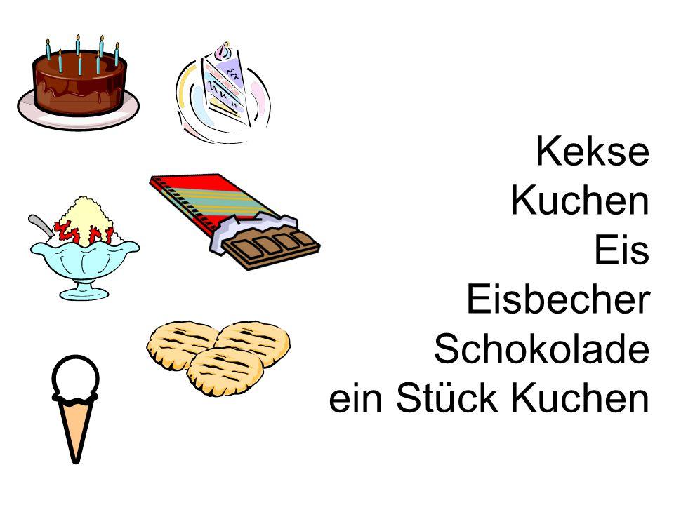 Kekse Kuchen Eis Eisbecher Schokolade ein Stück Kuchen