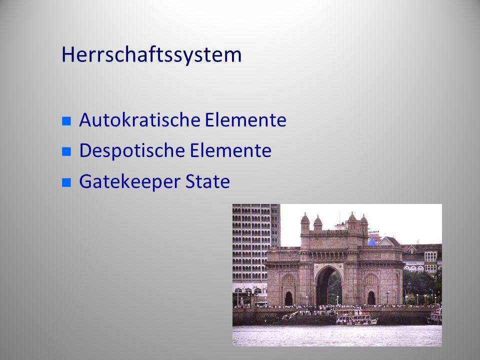Herrschaftssystem Autokratische Elemente Despotische Elemente