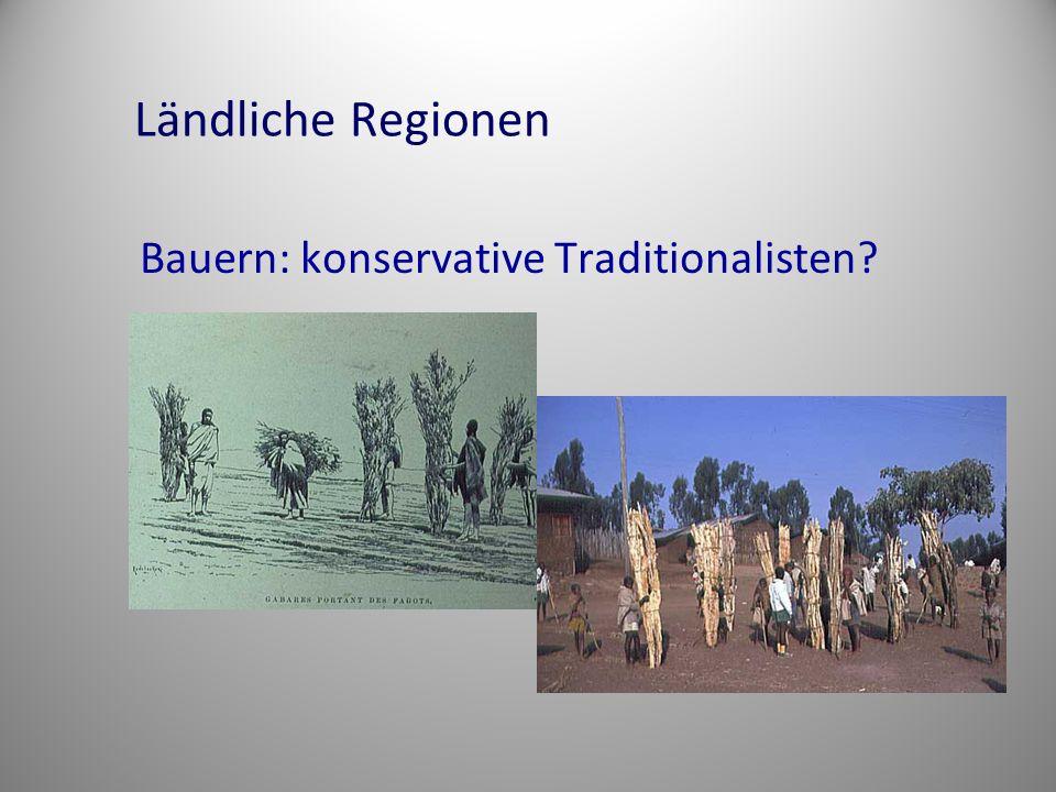 Ländliche Regionen Bauern: konservative Traditionalisten