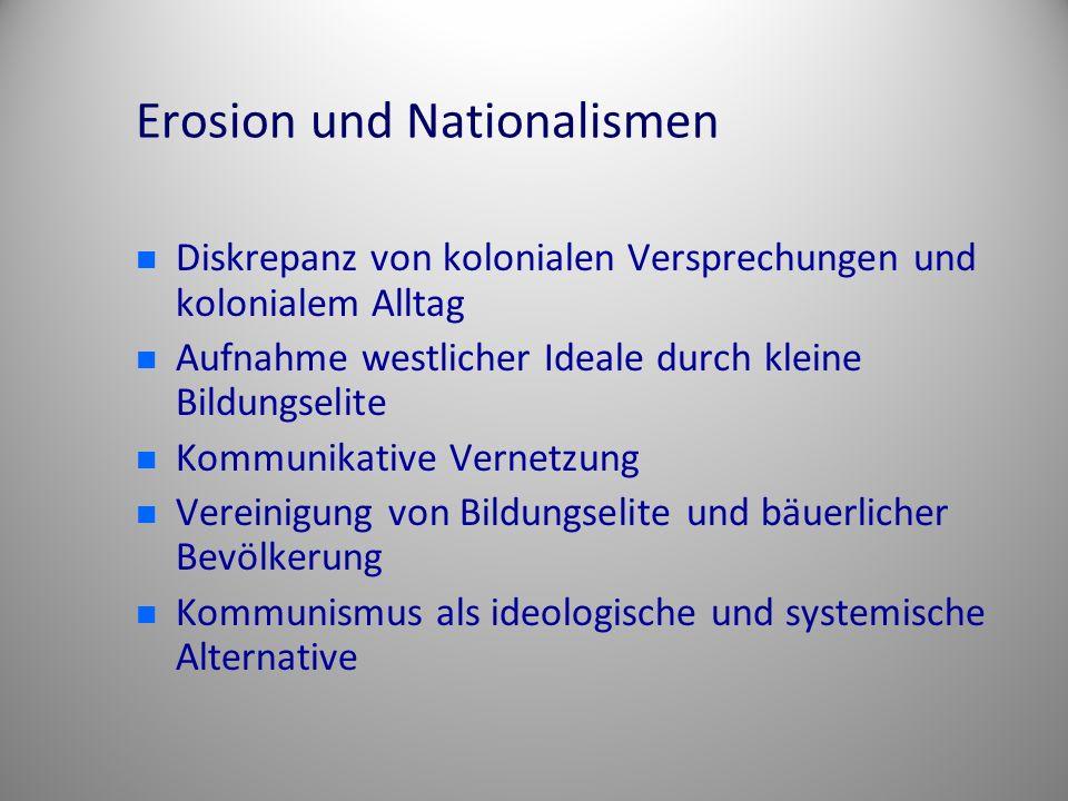 Erosion und Nationalismen