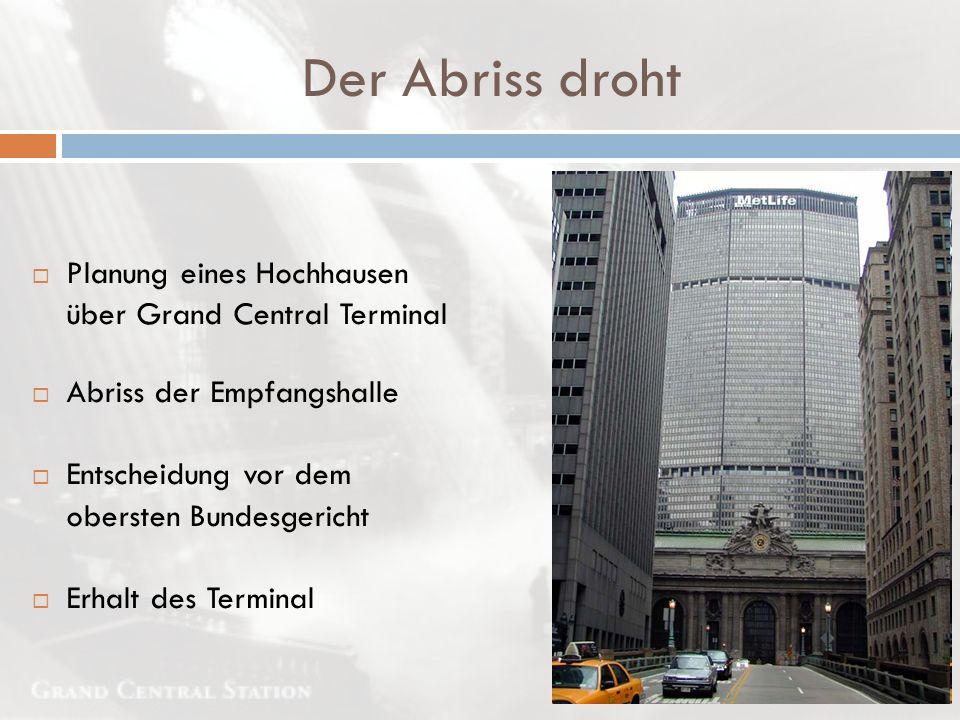 Der Abriss droht Planung eines Hochhausen über Grand Central Terminal