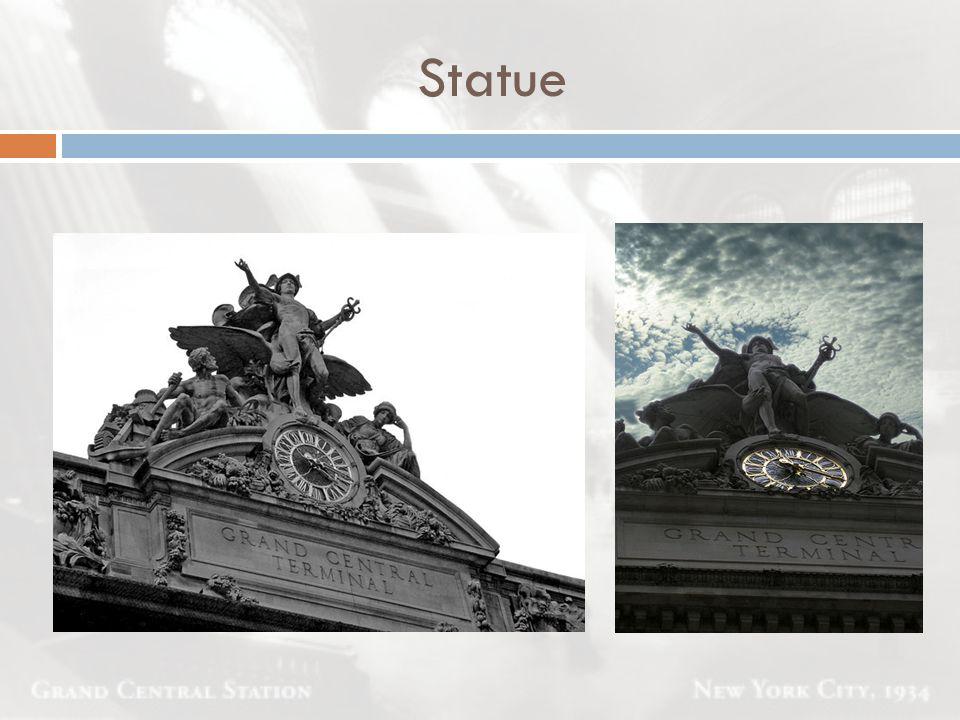Statue Uhr und Skulptur von J.-A. Coutan