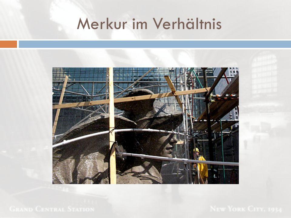 Merkur im Verhältnis 2,5 Mio. m³ Erde wurden ausgehoben, 25 km Schienen verlegt und 18 000 t Stahl verarbeitet.
