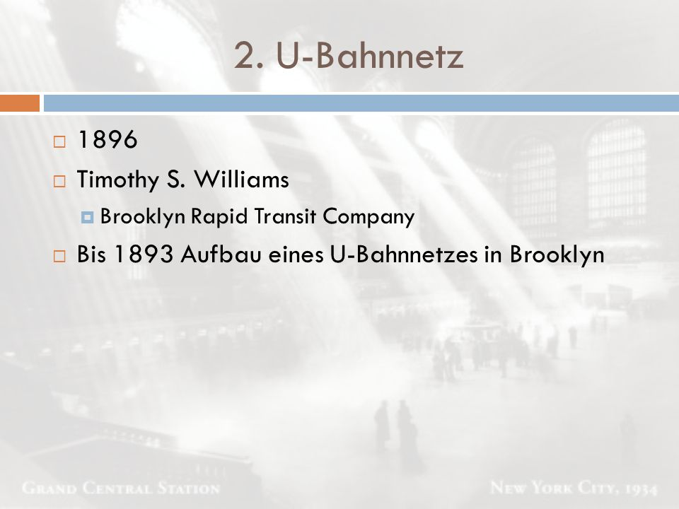 2. U-Bahnnetz 1896 Timothy S. Williams