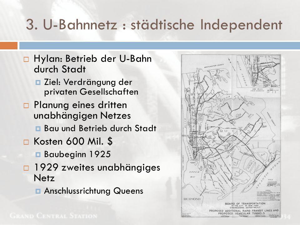 3. U-Bahnnetz : städtische Independent