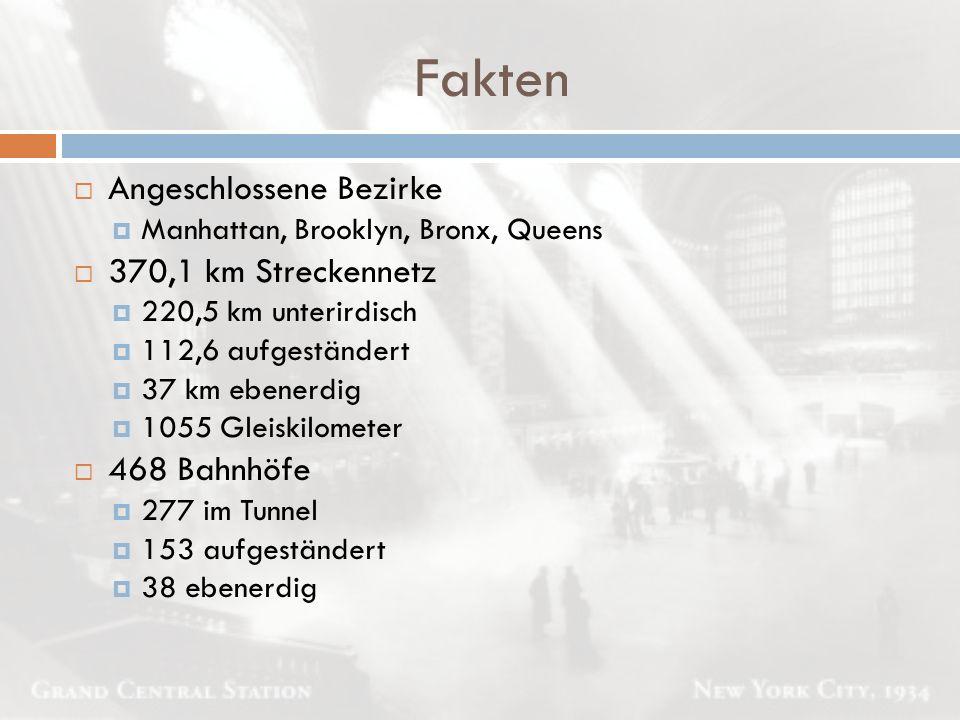 Fakten Angeschlossene Bezirke 370,1 km Streckennetz 468 Bahnhöfe