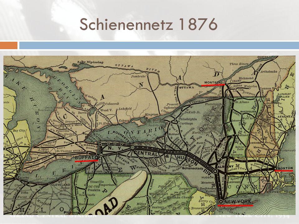 Schienennetz 1876