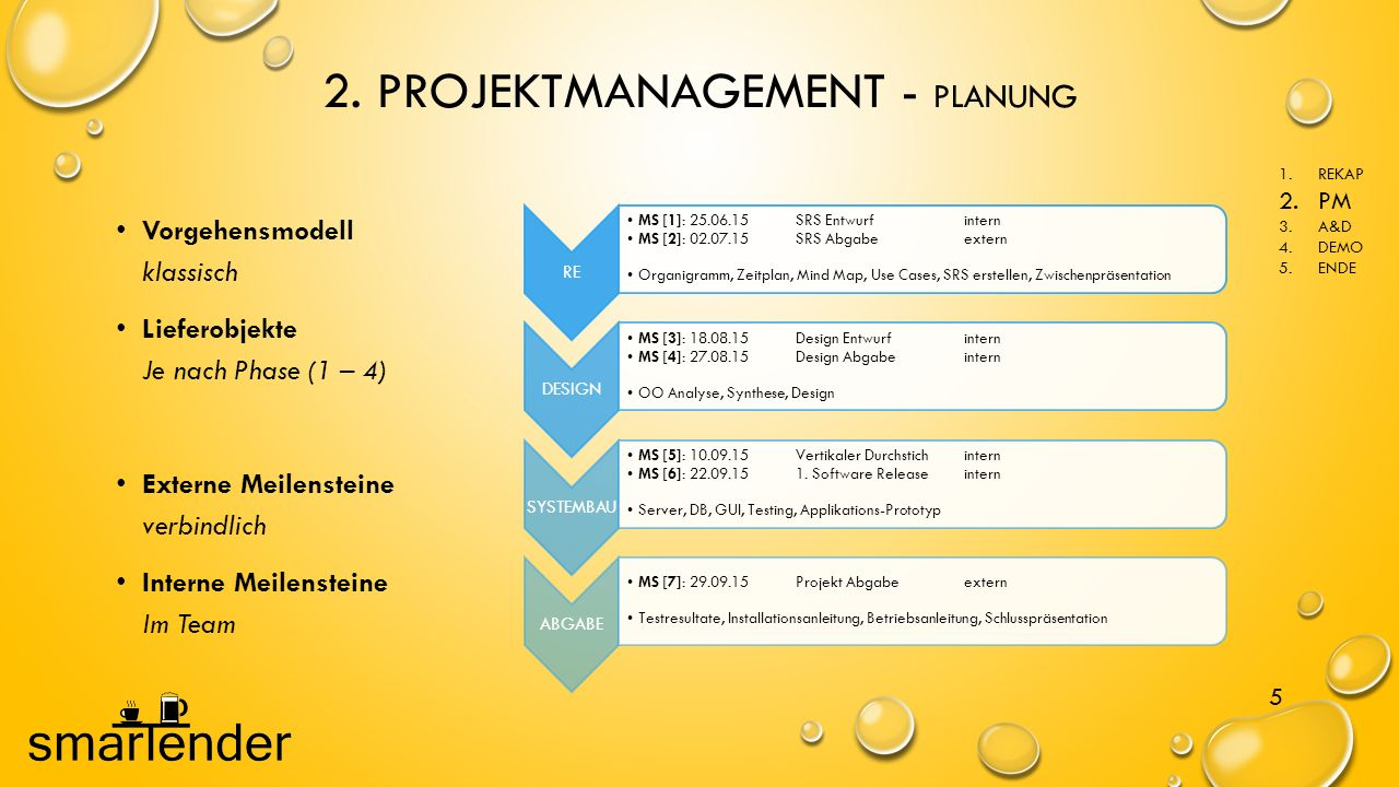 2. PROJEKTMANAGEMENT - PLANUNG