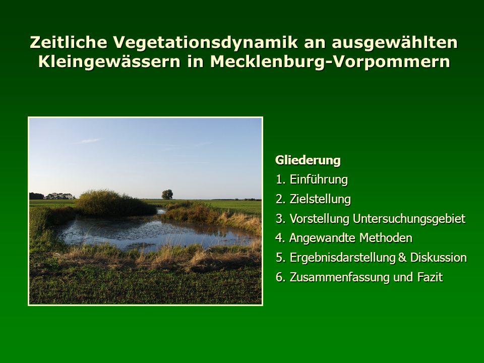 Zeitliche Vegetationsdynamik an ausgewählten Kleingewässern in Mecklenburg-Vorpommern