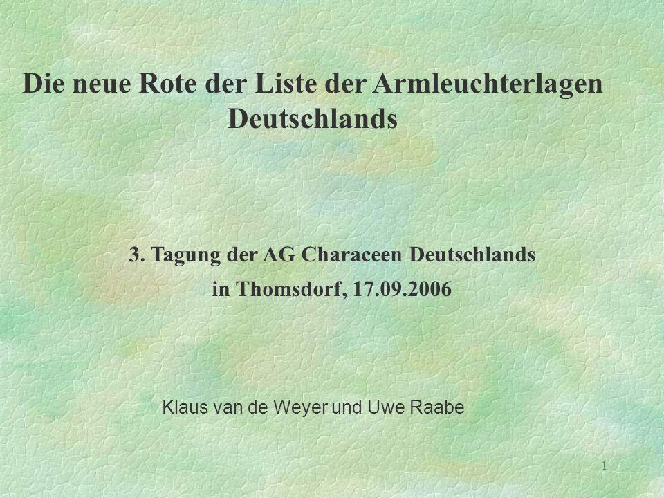 Die neue Rote der Liste der Armleuchterlagen Deutschlands