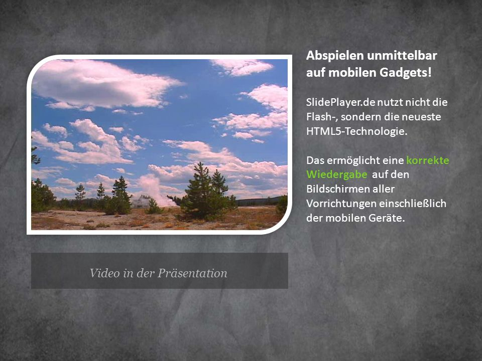 Video in der Präsentation