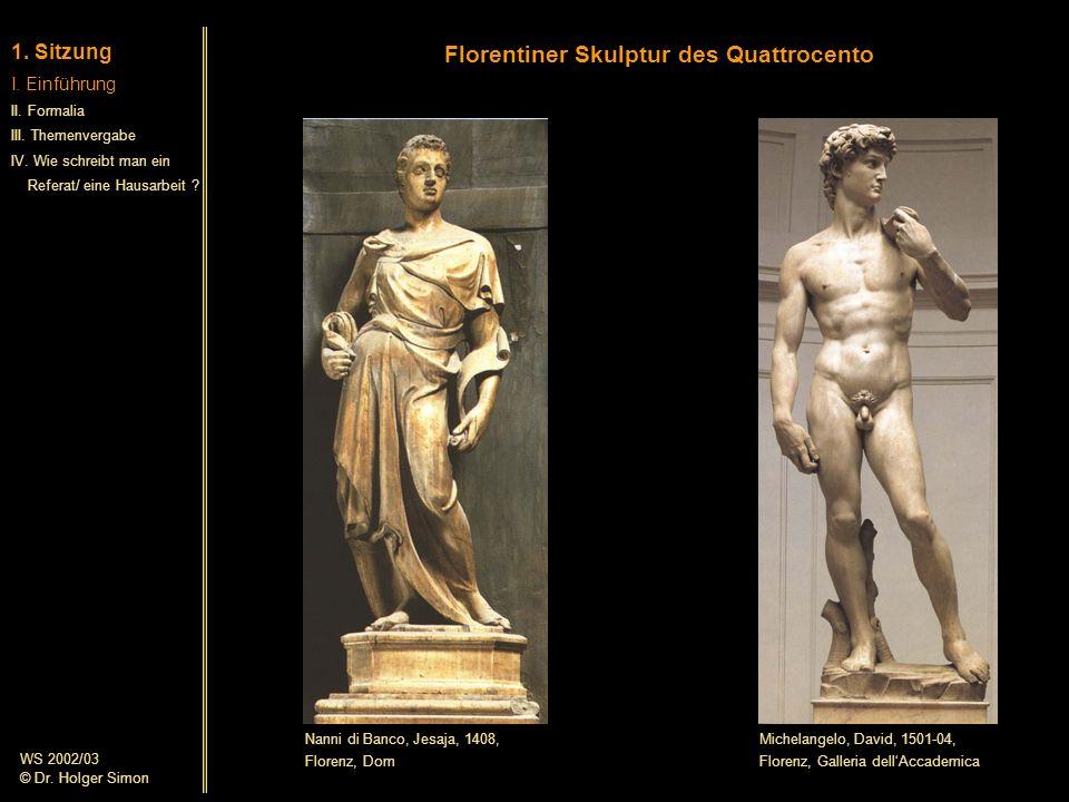 Florentiner Skulptur des Quattrocento