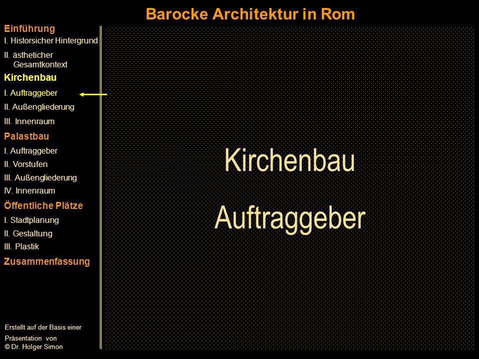 Kirchenbau Auftraggeber Barocke Architektur in Rom Einführung