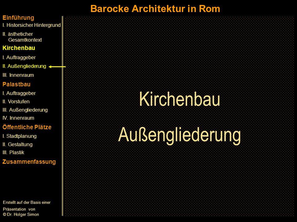 Kirchenbau Außengliederung Barocke Architektur in Rom Einführung