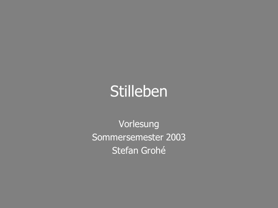 Vorlesung Sommersemester 2003 Stefan Grohé