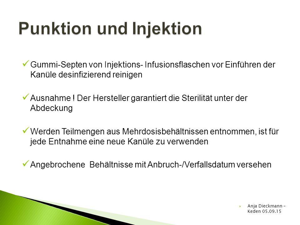 Punktion und Injektion