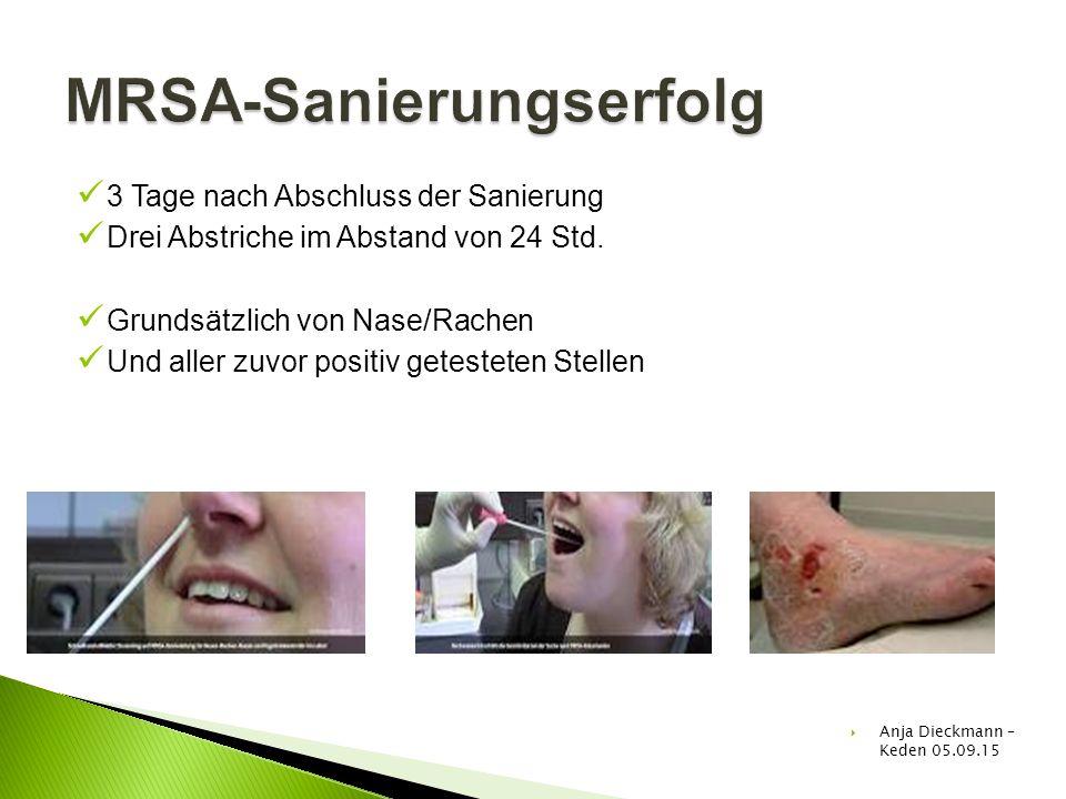 MRSA-Sanierungserfolg