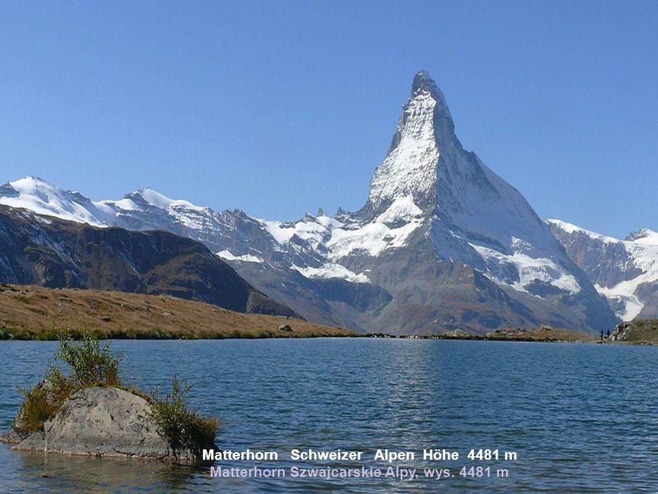 Matterhorn Schweizer Alpen Höhe 4481 m Matterhorn Szwajcarskie Alpy, wys. 4481 m